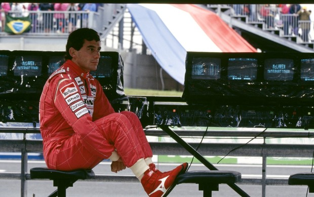 Ayrton Senna, no GP da França de 1992 (Foto: Getty Images)