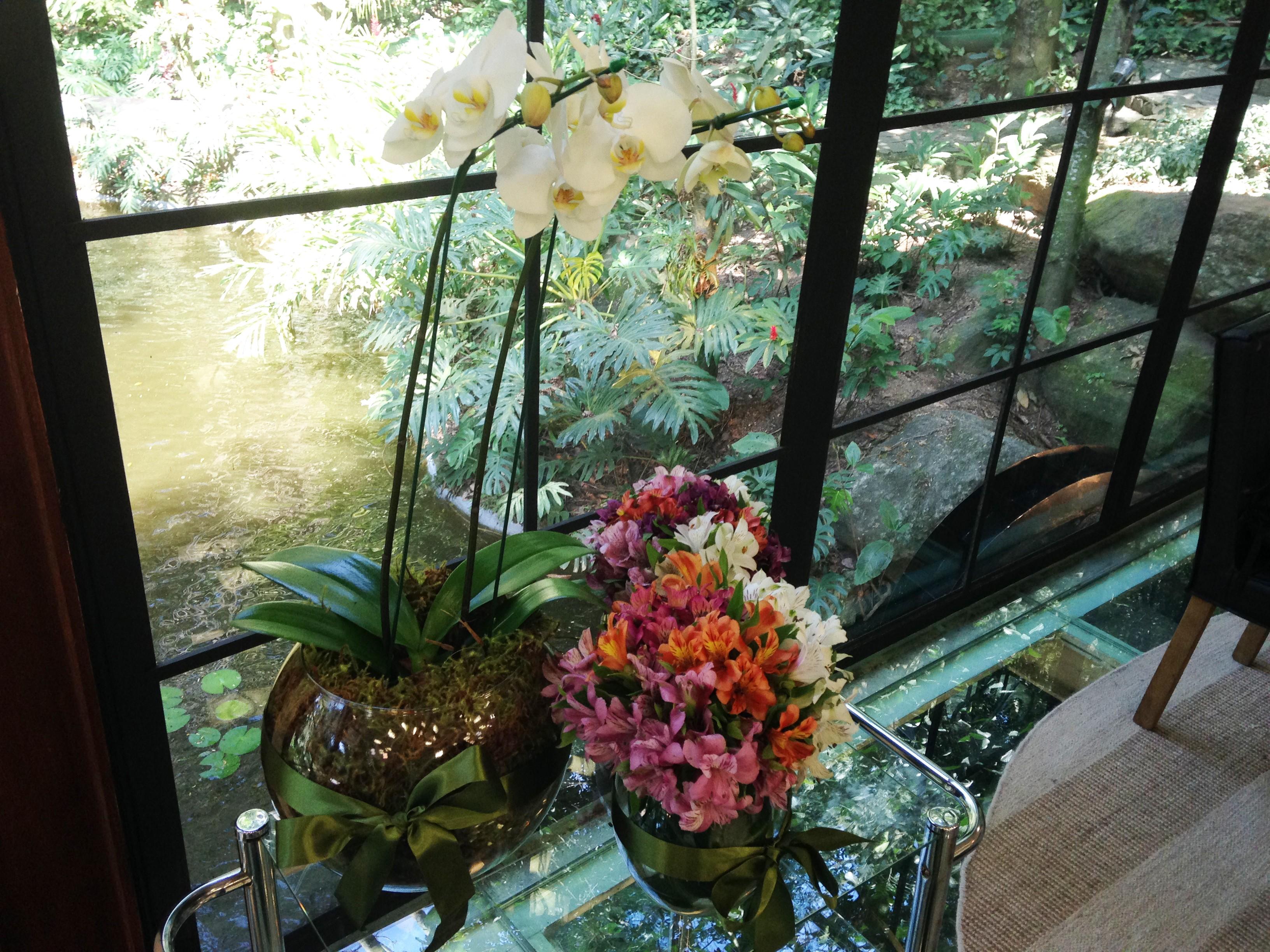 Arranjo de flor do Bruno Astuto (Foto: Melina Mantovani / Gshow)