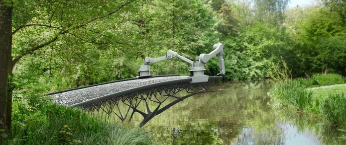 Amsterdã ganhará ponte totalmente impressa em 3D (Foto: Divulgação/MX3D)