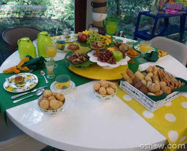 Mesa do café da manhã (Foto: Mais Você / TV Globo)