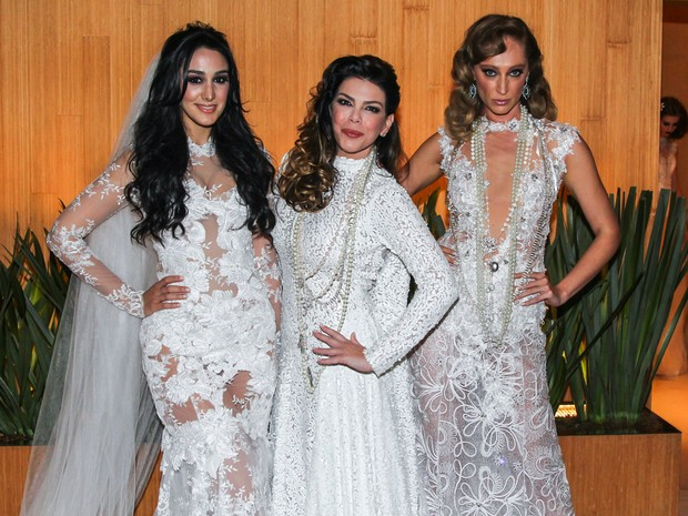 Marina Elali, Gisele Fraga e Talytha Pugliesi em evento de moda em São Paulo (Foto: Manuela Scarpa/ Foto Rio News)