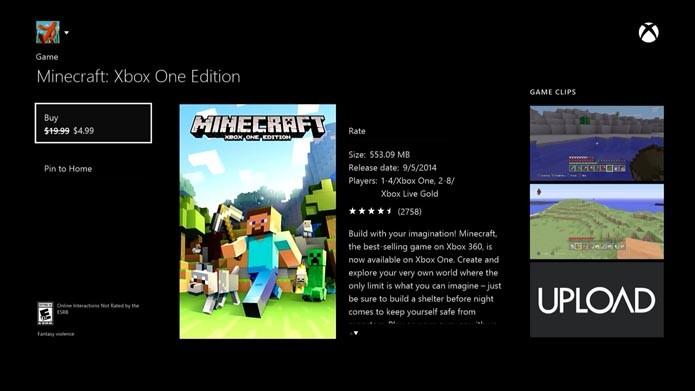Minecraft: como atualizar seu game e importar os seus mundos do Xbox 360 para o Xbox One (Foto: Reprodução/Murilo Molina)