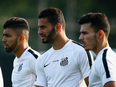 Gabriel, Thiago Maia e Zeca - Santos (Foto: Ricardo Saibun / Santos FC)