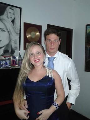 Tuanny e o noivo, Thiago (Foto: Arquivo pessoal)