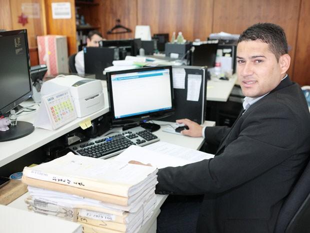 Samir Carvalho Deruiche, que trabalha como auxiliar administrativo no Supremo (Foto: Carlos Humberto / SCO / STF)