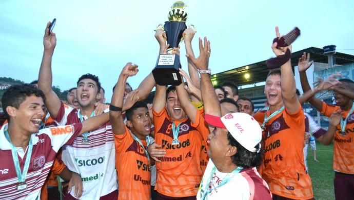 Desportiva goleia o Linhares e conquista título do Capixabão Sub-20 (Foto: Henrique Montovanelli/Desportiva Ferroviária)