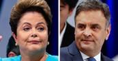 Aécio tem 53% e Dilma, 47%, em MS (Paulo Whitaker/Reuters e André Penner/AP)