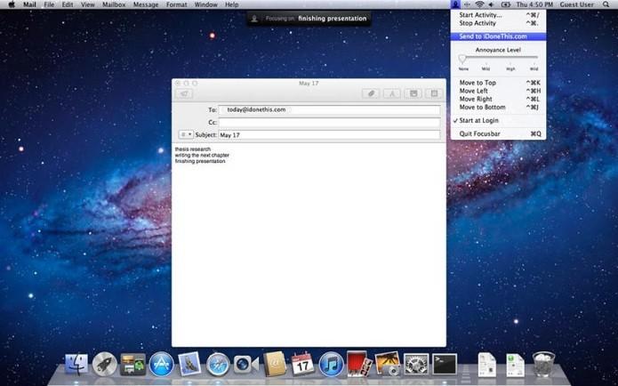 Focusbar impede que usuário se destraia com tarefas não importantes (Foto: TechTudo)