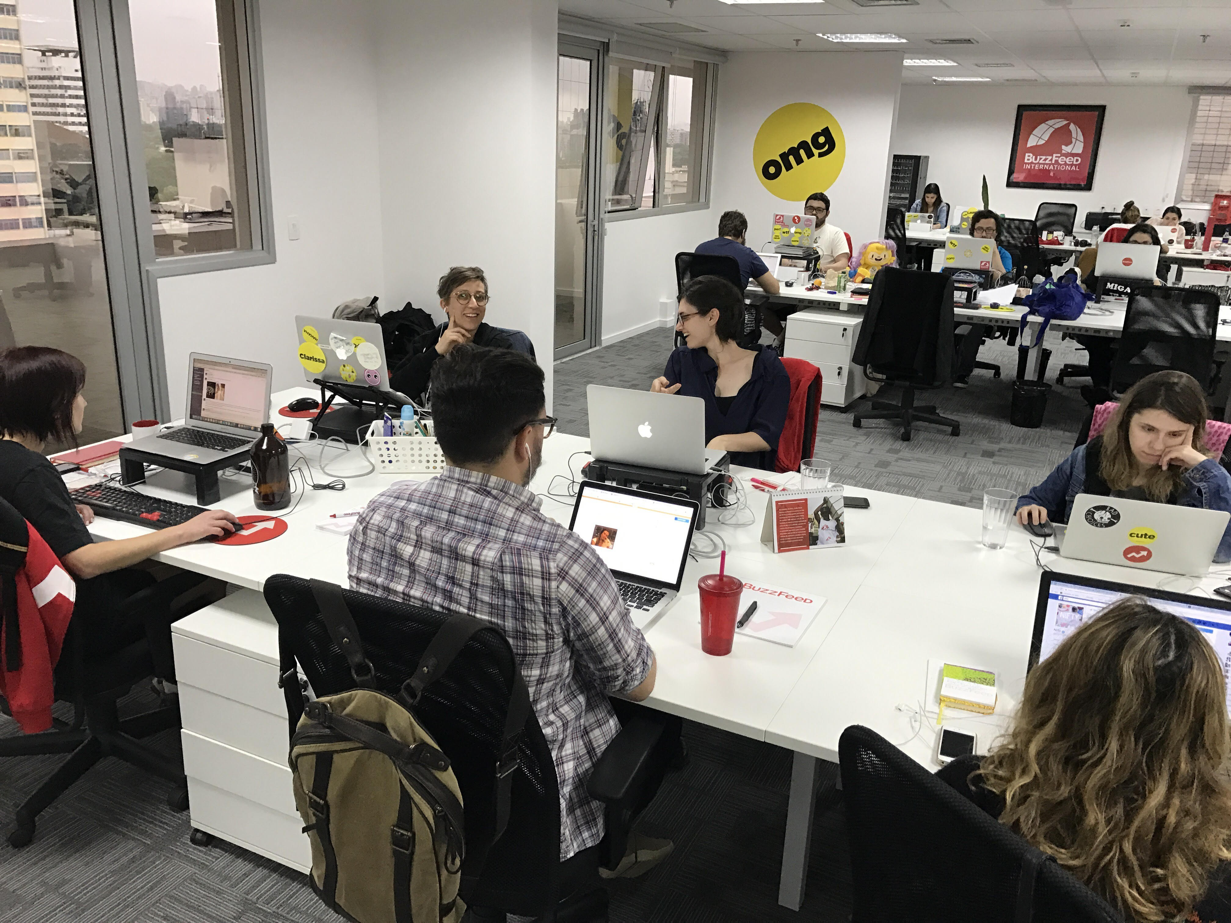 Escritório do Buzzfeed em São Paulo (Foto: Divulgação)