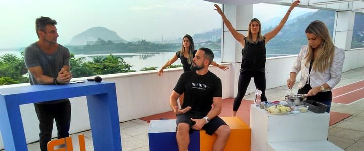 Programa Eu Atleta faz releitura da ginástica localizada e tem bolo fit (Igor Christ)
