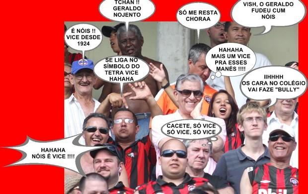 Coritiba tetracampeão torcida provoca Atlético-PR nas redes sociais (Foto: Reprodução / Facebook)