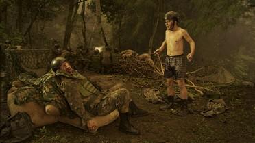 Homem morrendo na guerra – parte 1