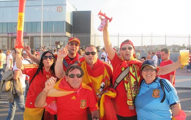 torcida Espanha- Espanha X Croácia (Foto: Victor Canedo / Globoesporte.com)