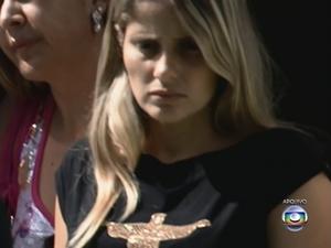 Mysheva Martins e o tio escaparam ilesos do crime. (Foto: Reprodução/ Rede Globo)