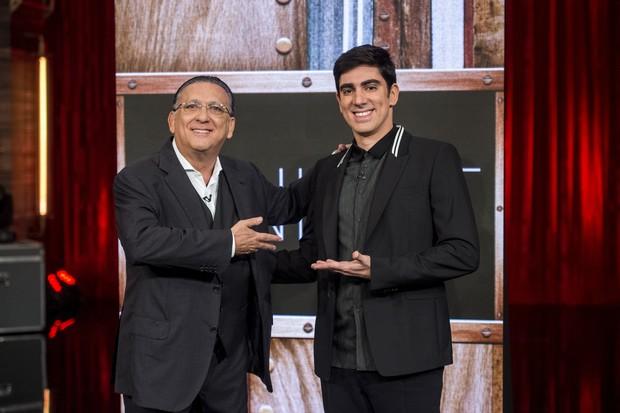 Galvão Bueno e Marcelo Adnet juntos no Adnight (Foto: Globo/Estevam Avellar)