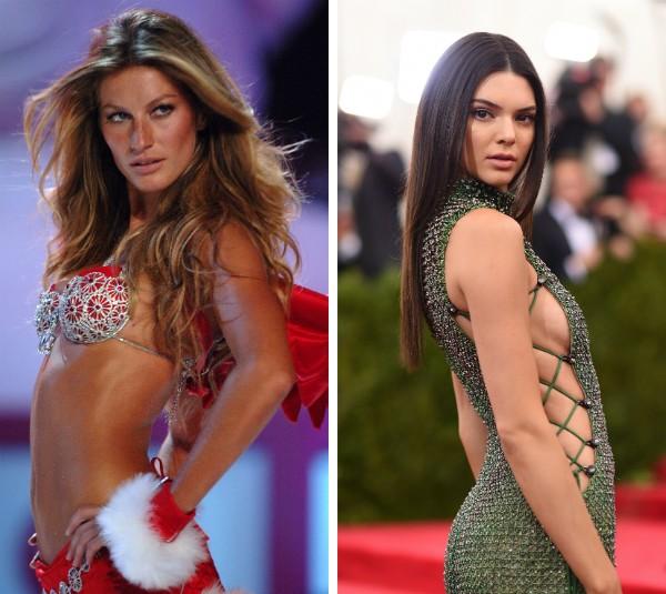 As modelos Gisele Gisele Bündchen e Kendall Jenner (Foto: Getty Images)