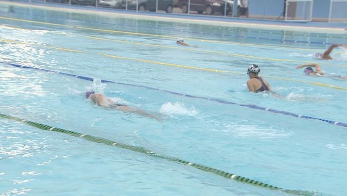 Equipe Aquarius é a vencedora da Taça Cidade de Macapá de natação, no Amapá (Foto: Reprodução/TV Amapá)
