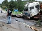 Caminhoneiro morre após bater em barranco e árvore no Norte de SC