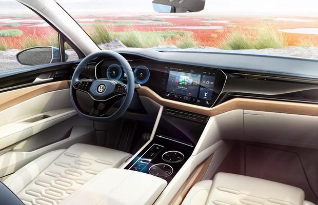 Interior do conceito Volkswagen T-Prime GTE (Foto: Divulgação)