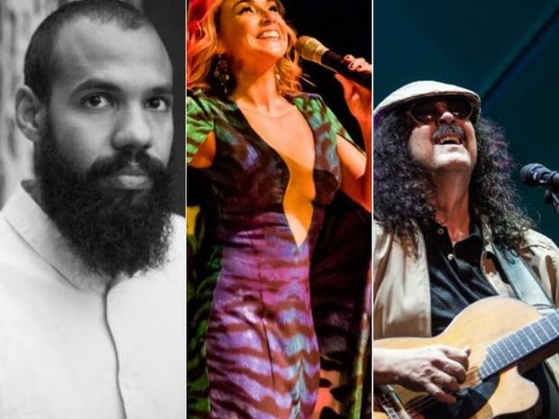 BaianaSystem, Daniela Mercury e Moraes Moreira estão confirmados no carnaval (Foto: Arte / G1)