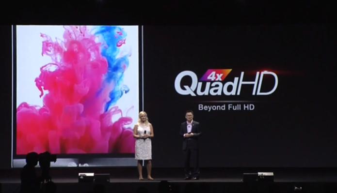 A tela do LG G3 supera a do Galaxy S5 em definição (Foto: Reprodução/ LG)