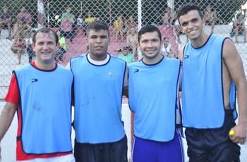 Jogo Beneficente Acre, Miller, Alex e Thiago (Foto: Wendeler Leal/Arquivo Pessoal)