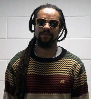 O rapper nos bastidores do Esquenta! (Foto: Gabriella Dias/Gshow)