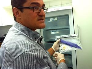 Fabrício Fernandes, perito criminal do Itep com formação em genética forense (Foto: Rafael Barbosa/G1)