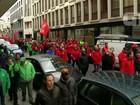 Quatro mil pessoas protestam contra medidas de austeridade na Bélgica