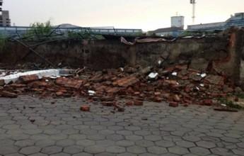 Após queda de muro do Sernamby, Sama contabiliza prejuízo de 20 mil
