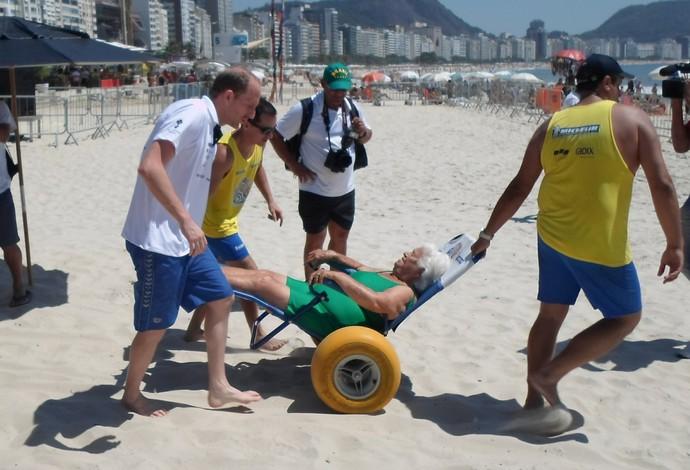 """thomas lurz projeto """"praia para todos"""" (Foto: Luan Sanchez)"""