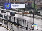 Chuva causa quedas de árvores e alagamentos em cidades do Vale