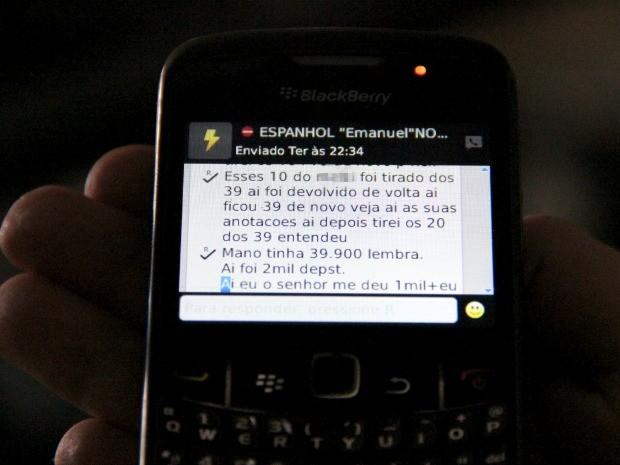 Comunicação com 'Nanico' era feito por SMS, diz SSP (Foto: Jamile Alves/G1 AM)