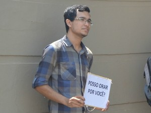 Felipe Galvão faz parte do grupo apoiava candidatos (Foto: Samira Lima/G1)