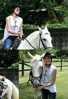 Camila Queiroz faz aula de equitação em preparação para 'Êta Mundo Bom'