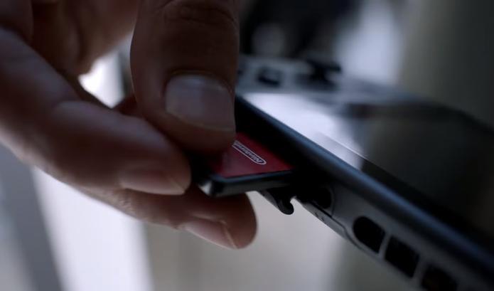 Nintendo Switch terá cartuchos de jogos (Foto: Reprodução/YouTube)