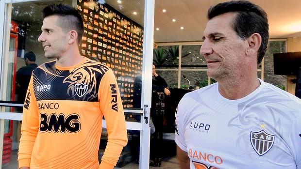 Victor e Chiquinho Atlético-MG (Foto: Fernando Martins)