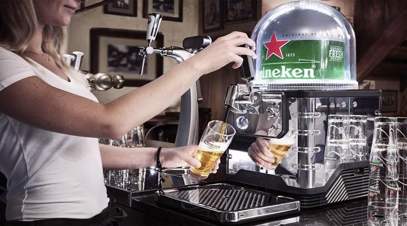 A Heineken Blade, uma máquina de tirar chope que funciona com barris-cápsula de oito litros (Foto: Divulgação)
