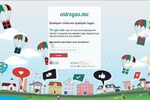 Página do Entregas.me já conta com 250 usuários interessados (Foto: Reprodução)