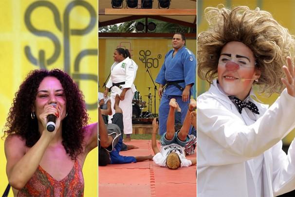 Atividades esportivas, apresentações teatrais e shows animaram o público no sábado, dia 18, no Ibirapuera (Foto: Fernando Pilatos/Globo)