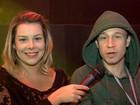Fê Souza elogia performance ao vivo de Leifert, que admite: 'Eu erro, mas disfarço'