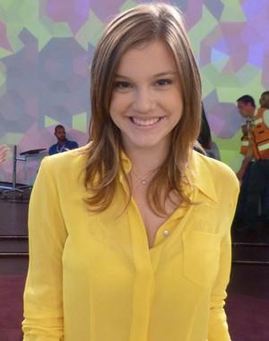 Alice Wegmann perdeu quatro quilos para viver Lia (Foto: Encontro com Fátima Bernardes/ TV Globo)