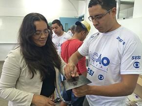Francisca Solange, 51 anos participa pela primeira vez da Ação Global e faz a segunda via da identidade (Foto: Divulgação/Natália Leme)