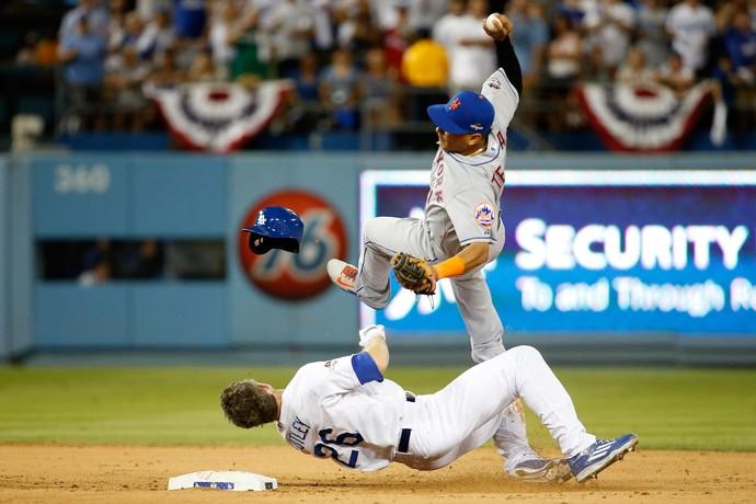 Carrinho polêmico MLB Chase Utley Ruben Tejada (Foto: Sean M. Haffey / Getty Images)