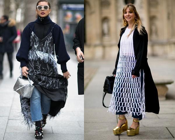 Street style: metalizados dão um toque fashion à produção (Foto: Imaxtree)