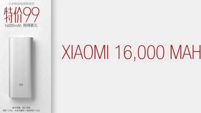 Anúncio da bateria de 16.000 mAh da Xiaomi (Foto: Reprodução/Gizchina)
