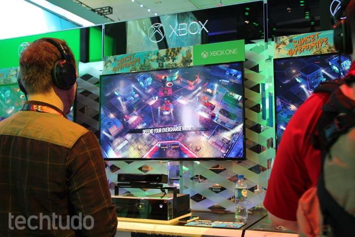Sunset Overdrive é um dos principais lançamentos da Microsoft na E3 2014 (Foto: Felipe Vinha/ TechTudo)