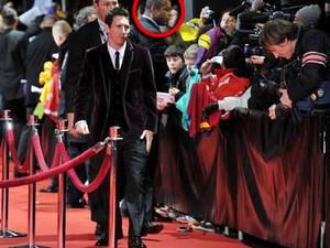 Wagner Luis participou da segurança do jogador de futebol  Messi em evento realizado em Zurique (Foto: Arquivo pessoal)