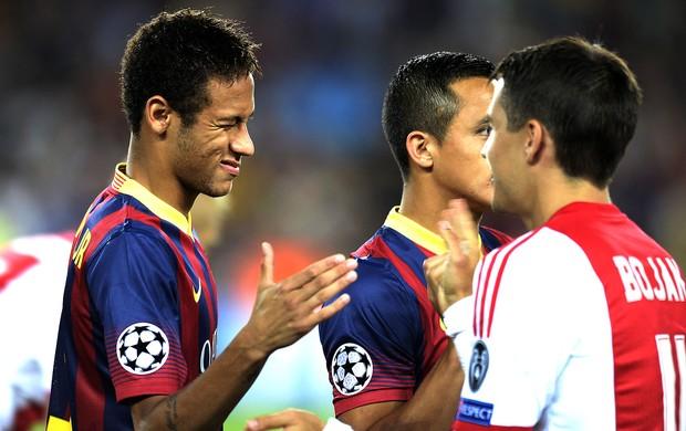 Neymar jogo Barcelona e Ajax (Foto: AFP)