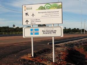 Iluminação e sinalização do acesso Norte estão instaladas (Foto: Fernanda Zauli/G1)